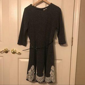 Eci Black Dress with lace detail